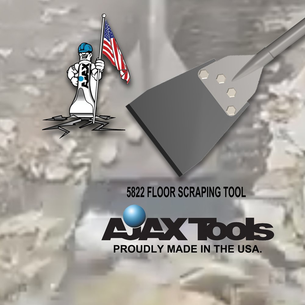 Ajax Tool Works 5822 Floor Scrapper, Electric Jack Hammer Chisel for Demolition and Concrete Breaker, SDS Max, 25'' by Ajax Tool Works (Image #3)