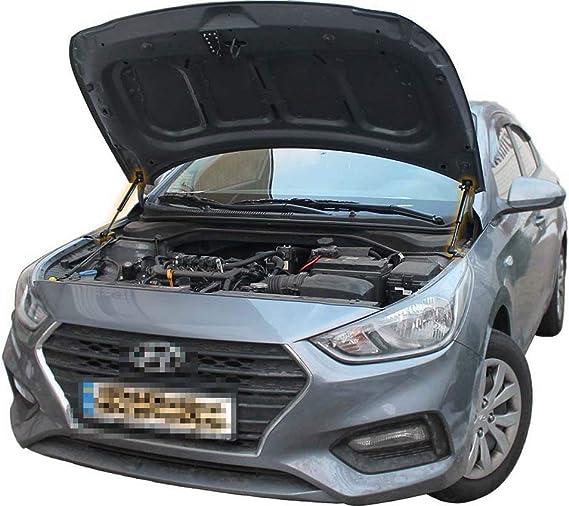 Kedoukj Damper Modify Front Hood Bonnet Gas Struts for Hyundai Tucson 2015 2016 2017 2018 2019 Carbon Fiber Shock Absorber Car Parts Accessories Gift 1 sets Black