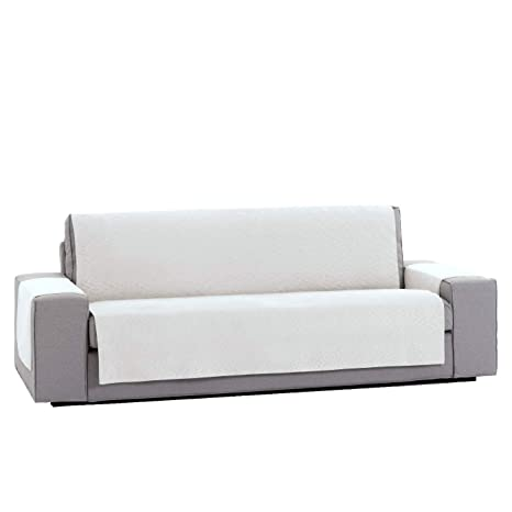 Innovaciones Roser Funda Cubre Sofá Práctica Modelo Kioto, Color Crudo, Medida 3 Plazas – 155cm Respaldo