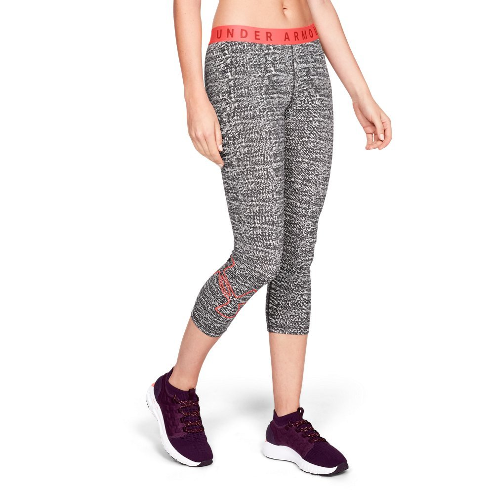 Under Armour Women's Favorite Graphic Crop Logo, Steel (036)/After Burn, X-Small