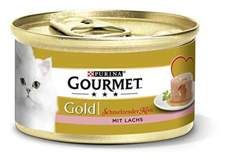 Gourmet Gold derritiéndose Núcleo Gato Forro, 12 Unidades (12 x 85 g) latas