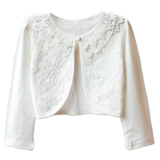Noroze Girls Kids Short Sleeve Knitted Shrug Cardigan