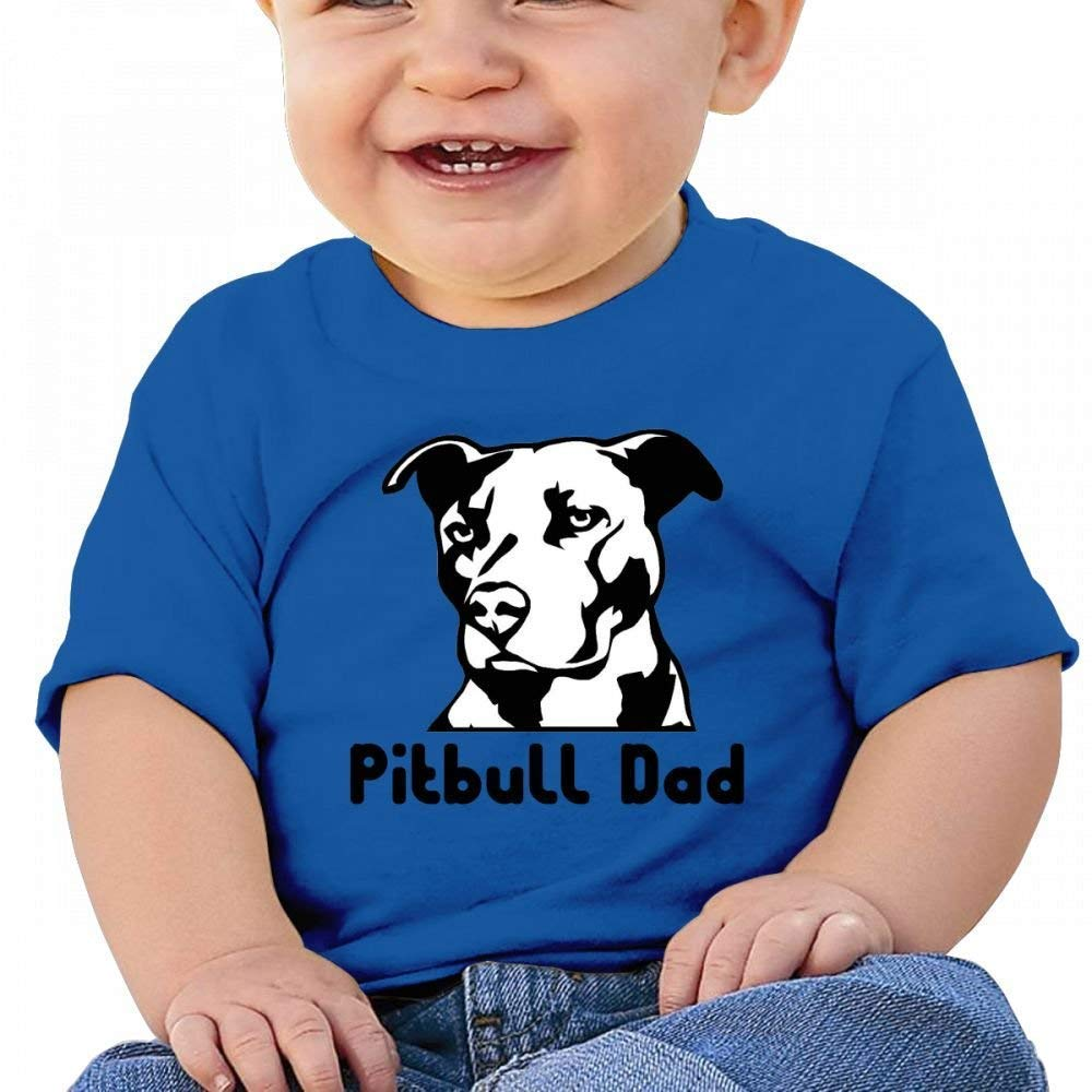 YXQMY Funny Pitbull d Baby Casual Round Neck Tee Shirts Short eeve T
