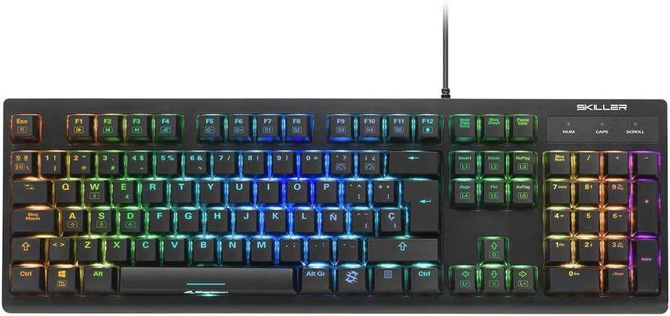 Sharkoon Skiller SGK30 Blue, Gaming Keyboard, ES Layout, Teclado Mecánico, Layout QWERTY Español