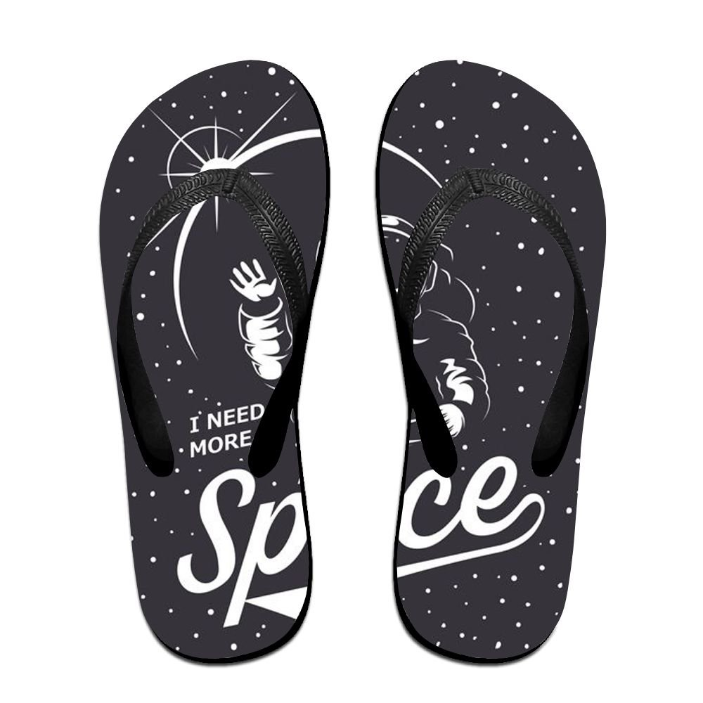 Couple Flip Flops Astronaut Space Print Chic Sandals Slipper Rubber Non-Slip Beach Thong Slippers