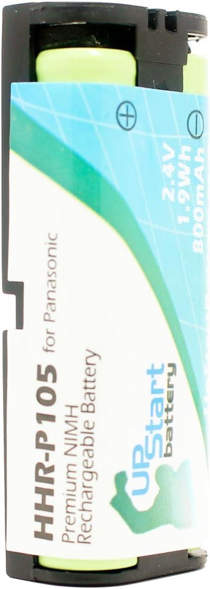 De repuesto para PANASONIC HHR-P105–Batería para Panasonic teléfono inalámbrico recargable (800mAh, 2,4V, Ni-MH)