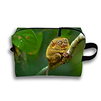 Amazon.com : Make-Up Cosmetic Tote Bag Animal Tarsier Monkeys Trapezoidal Carry Case : Beauty