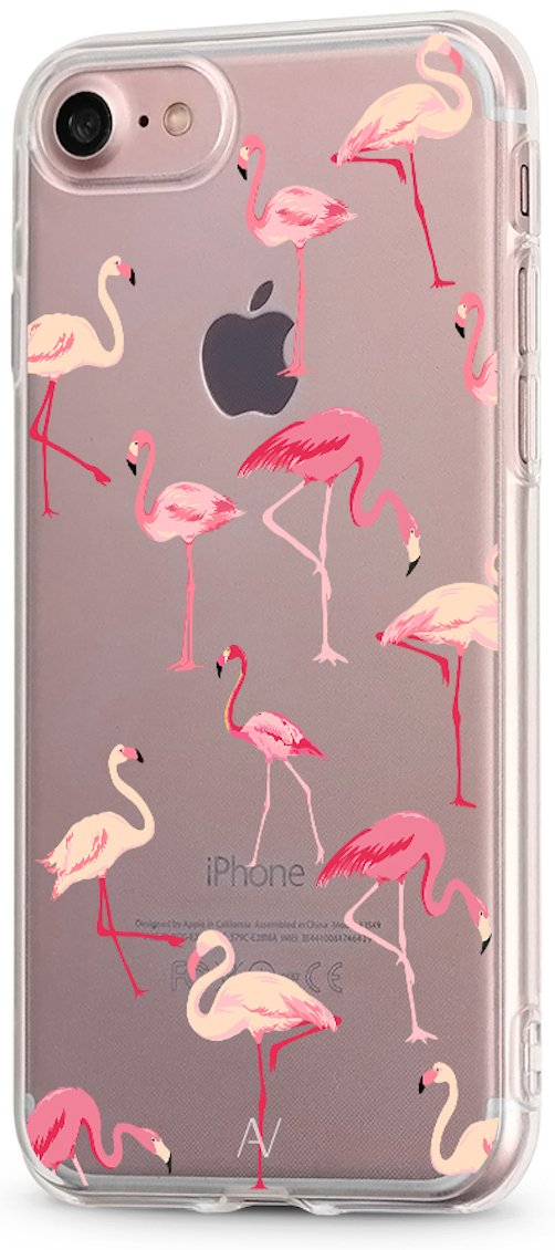 Funda iPhone 7 / iPhone 8 AVANA® Carcasa Transparente Slim Case Silicona TPU Cover Apple Caso Protectora Motivo (Flamenco): Amazon.es: Electrónica