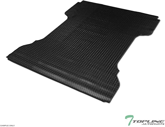 97-99 F250 Light Duty Flareside 6.5 Feet 78 Topline Autopart Black Rubber Horizontal Line Truck Bed Floor Mat Liner v2 For 97-03 Ford F150 Bed 2004 Heritage