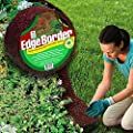 Easy Gardener Perm-A-Mulch 4.5 Inch x 8 Foot Red Garden Edging Border Recycled Rubber Lawn Landscape