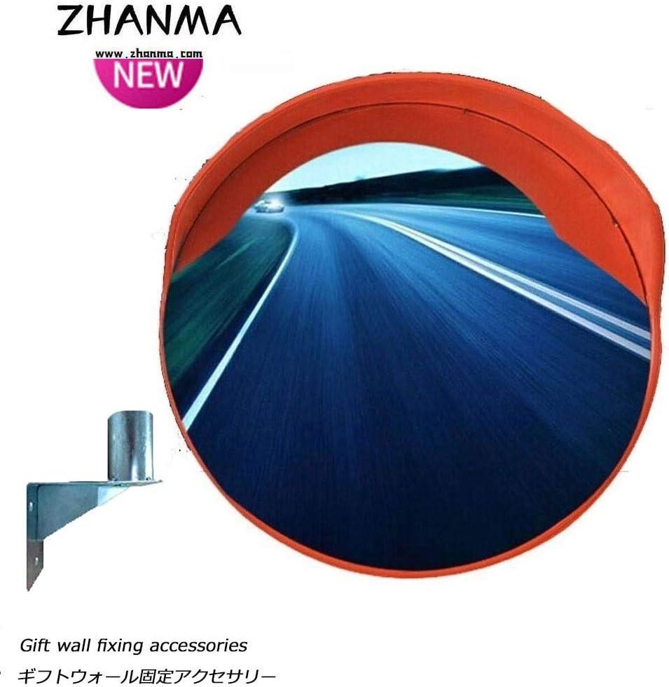 カーブミラー ラウンド広角レーン道路安全交通ミラー取り付け用ハードウェア調節可能な壁と取付金具300ミリメートル450ミリメートル600ミリメートル750ミリメートル800ミリメートル千ミリメートル1200ミリメートル RGJ1-18 (Size : 100cm)