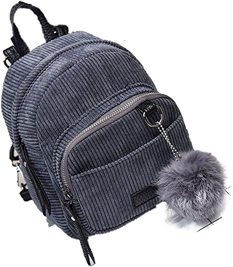 Mini mochila de pana para mujer, pequeña y bonita, bolsa de viaje ...