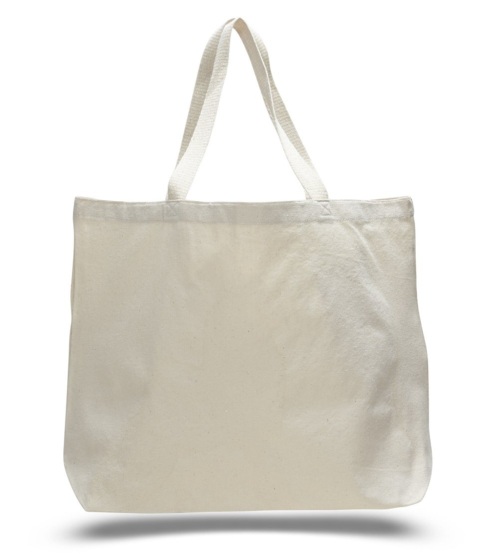Natural Color Canvas Extra Large Tote Bag (40, Natural)