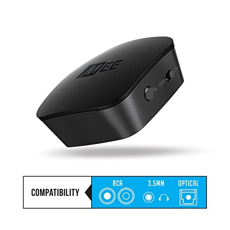 MEE audio Connect Universal Headphone and Speaker Bluetooth Wireless Audio  Transmitter with aptX Low Latency technology for TVs and other devices