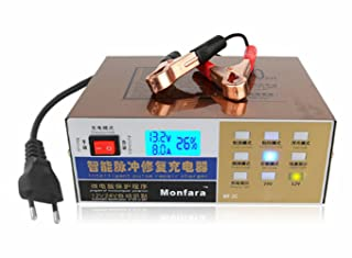 Scooter Upgraded 12V/24V 100AH Car Battery Charger Automatic LED Display Pulse Repair Charger for All Lead Acid Battery