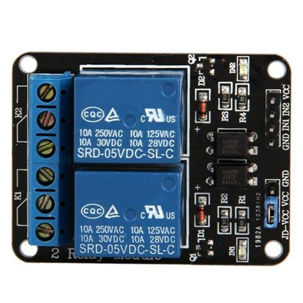 Hemore 2 Kanal DC 5 V Relaismodul f/ür Arduino UNO R3 DSP ARM PIC AVR Raspberry Pi mit Optokoppler Low Level Trigger Expansion Board DIY Garten Handwerkzeuge
