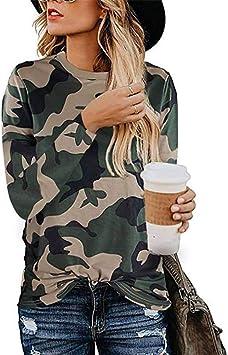 2019 Otoño Estampado de Leopardo Camiseta de Mujer Cuello Redondo Camisa de Manga Larga, Good dress, Camuflaje, s: Amazon.es: Bricolaje y herramientas