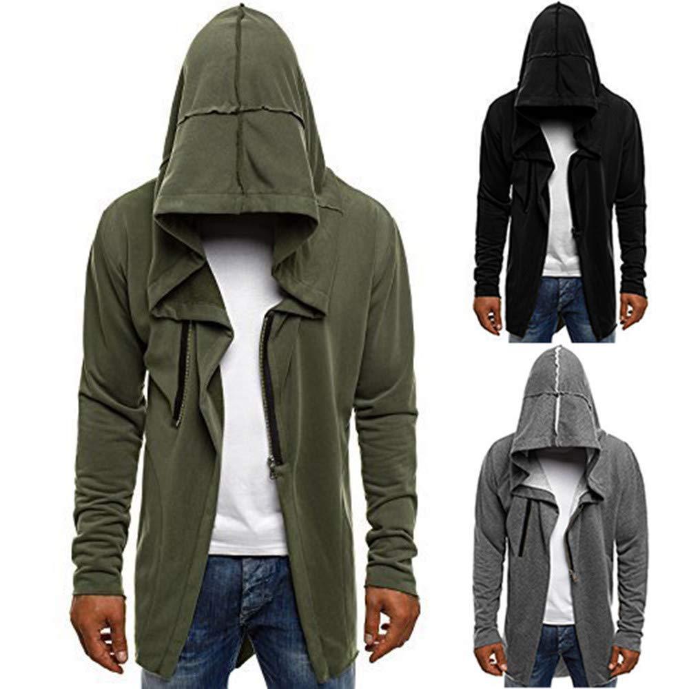 Men's Jacket Coat Winter Hooded Coats Mens Jackets Overcoat Outwear Casual Zipper Long Sleeve Pullover Sweatshirt Top
