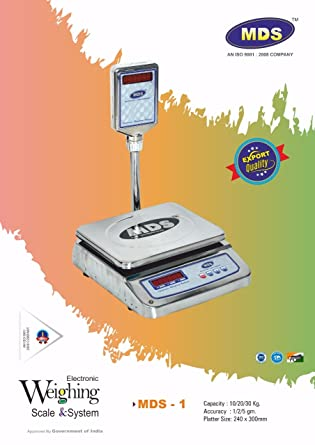 Taj+ 30Kg Digital Table Top Weighing Scale For Retail Shops, Kirana Stores,  Chicken Shops Etc