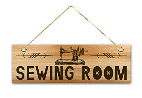 Amazon.com: Sala de coser, señal de 5.5