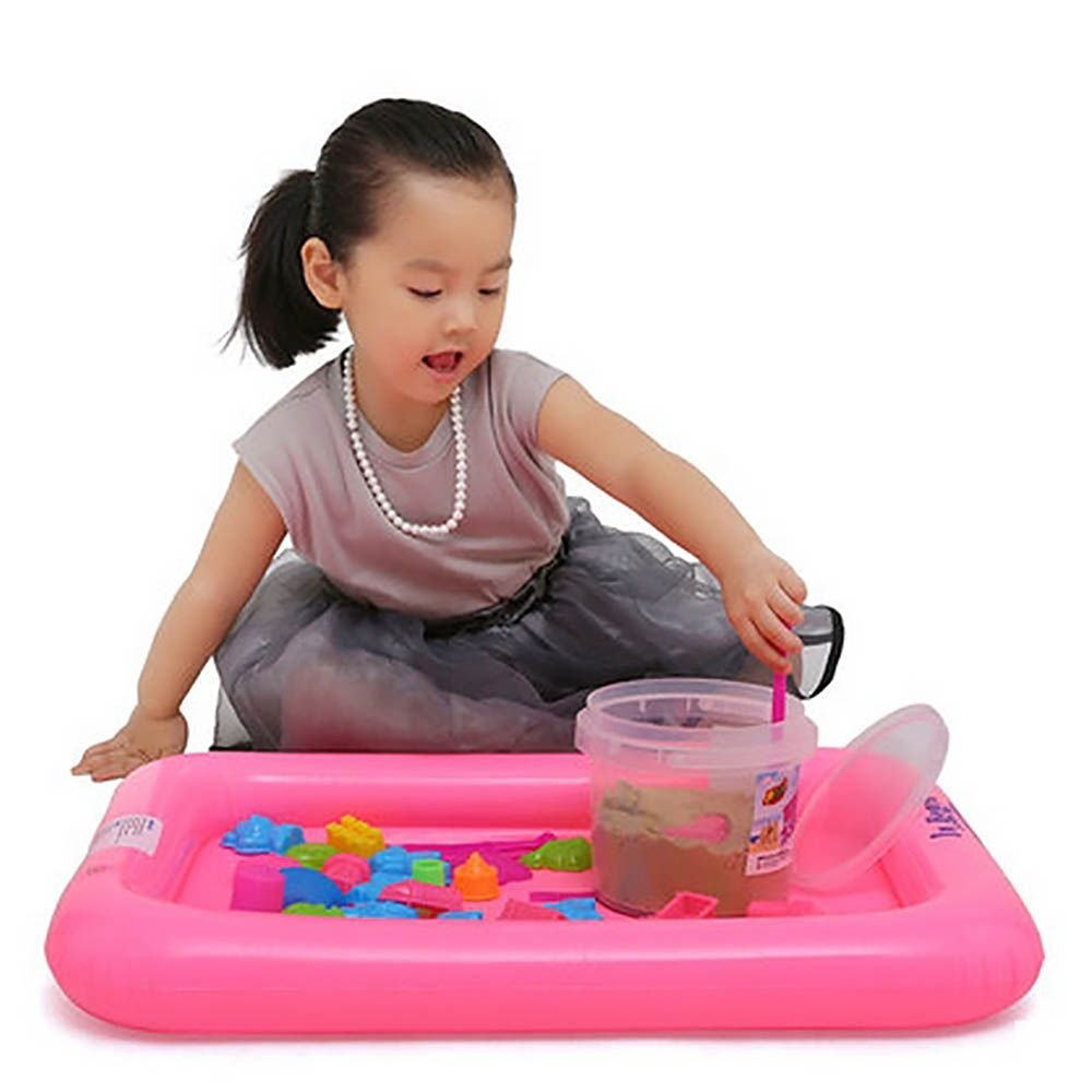 Amazon.com: Inflatable Large Castle Sand Box Form Table Play Sand Tray For  Kids Random Color: Toys U0026 Games