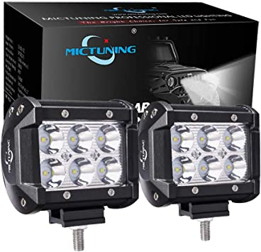 Dr.OX 2 PCS Mounting Bracket Kit 3 Inch for LED Light Bar LED Off-Road Light