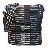 Tramzzd M Cute Cloth Satchel Saddle Zipper Pocket Swing pack Bag Collection Messenger Bag Crossbody Shoulder Handbags Women Travel Purse Wallet Pouch(Purple Stripe 2)