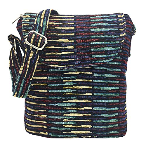 Tramzzd M Cute Cloth Satchel Saddle Zipper Pocket Swing pack Bag Collection Messenger Bag Crossbody Shoulder Handbags Women Travel Purse Wallet Pouch(Purple Stripe 2) from Tramzzd M
