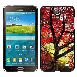 // PHONE CASE GIFT // Duro Estuche protector PC Cáscara Plástico Carcasa Funda Hard Protective Case for Samsung Galaxy Mega 2 / Red maple leaves /