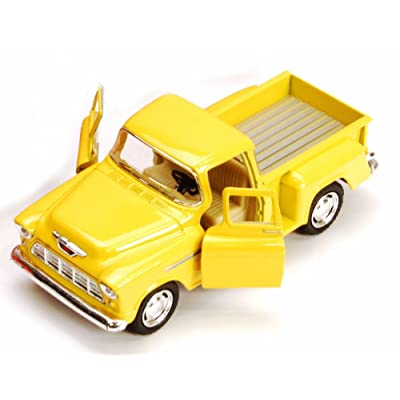 1955 Chevy Stepside Pickup Truck, Yellow - Kinsmart 5330/6D - 1/32 scale Diecast Model Toy Car (Brand New, but NO BOX)