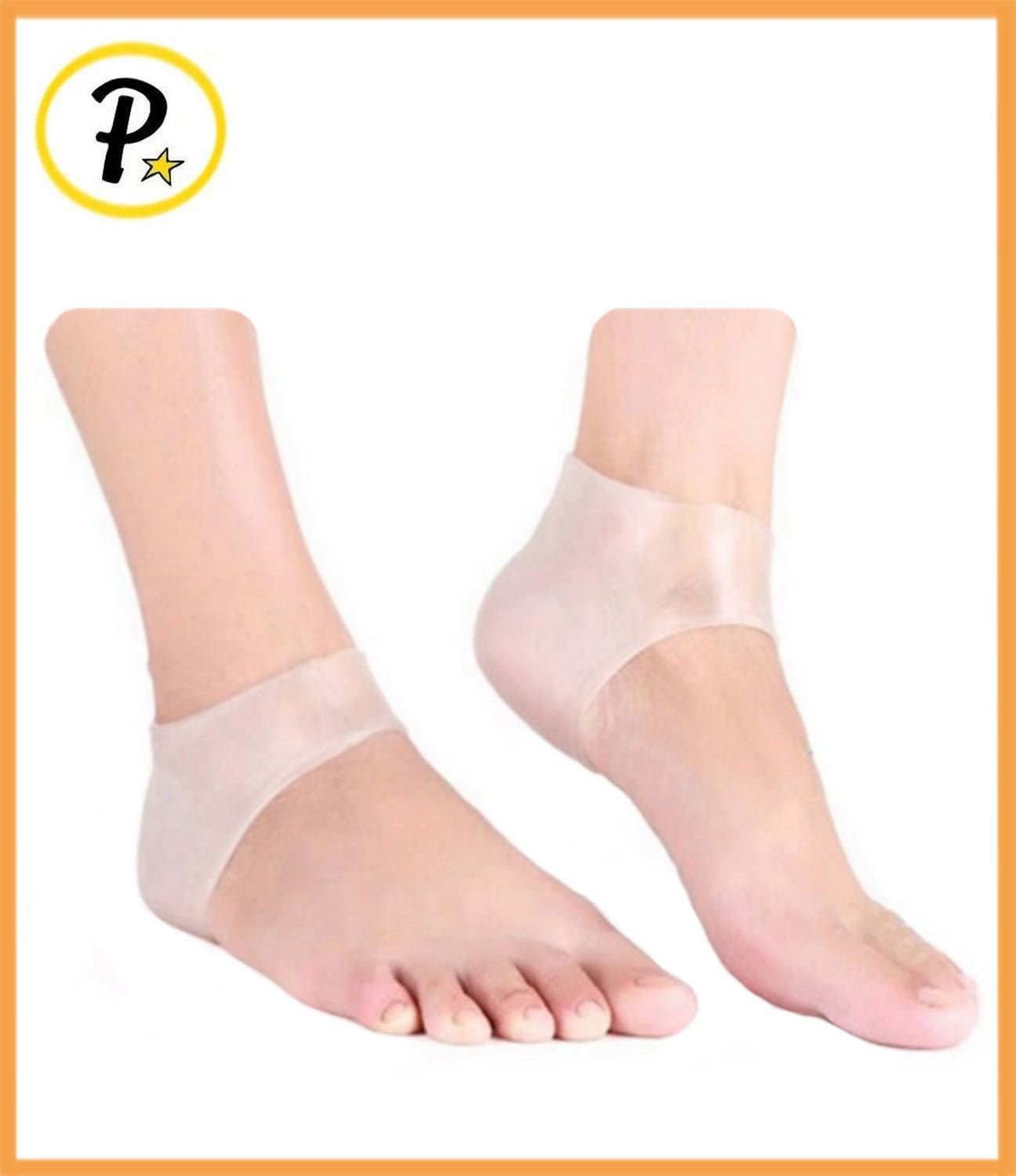 Presadee® ORIGINAL Medical Grade Gel Silicone Plantar Fasciitis Foot Arch Ankle Heel Cushion Protector Support (Clear)