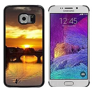 TopCaseStore / la caja del caucho duro de la cubierta de protección de la piel - Sunset Beautiful Nature 115 - Samsung Galaxy S6 EDGE SM-G925