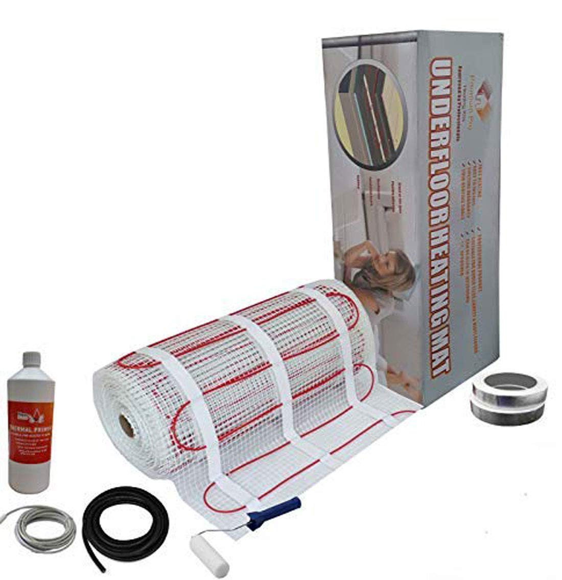 Black Touch Thermostat 10.0m2 Electric Underfloor Pro Elite Heating kit 150w