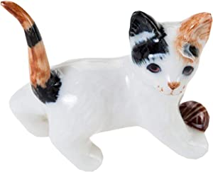 WitnyStore Kitten Cat Ceramic Miniature Figurine Cute Collectibles Animals Decor Tiny Gift