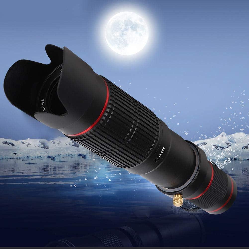 conciertos senderismo pesca etc. deportes al aire libre Telescopio monocular 36x Zoom HD 5 en 1 Conjunto de lentes de c/ámara m/óvil con clip y tr/ípode Monoculares port/átiles Alcance para caza