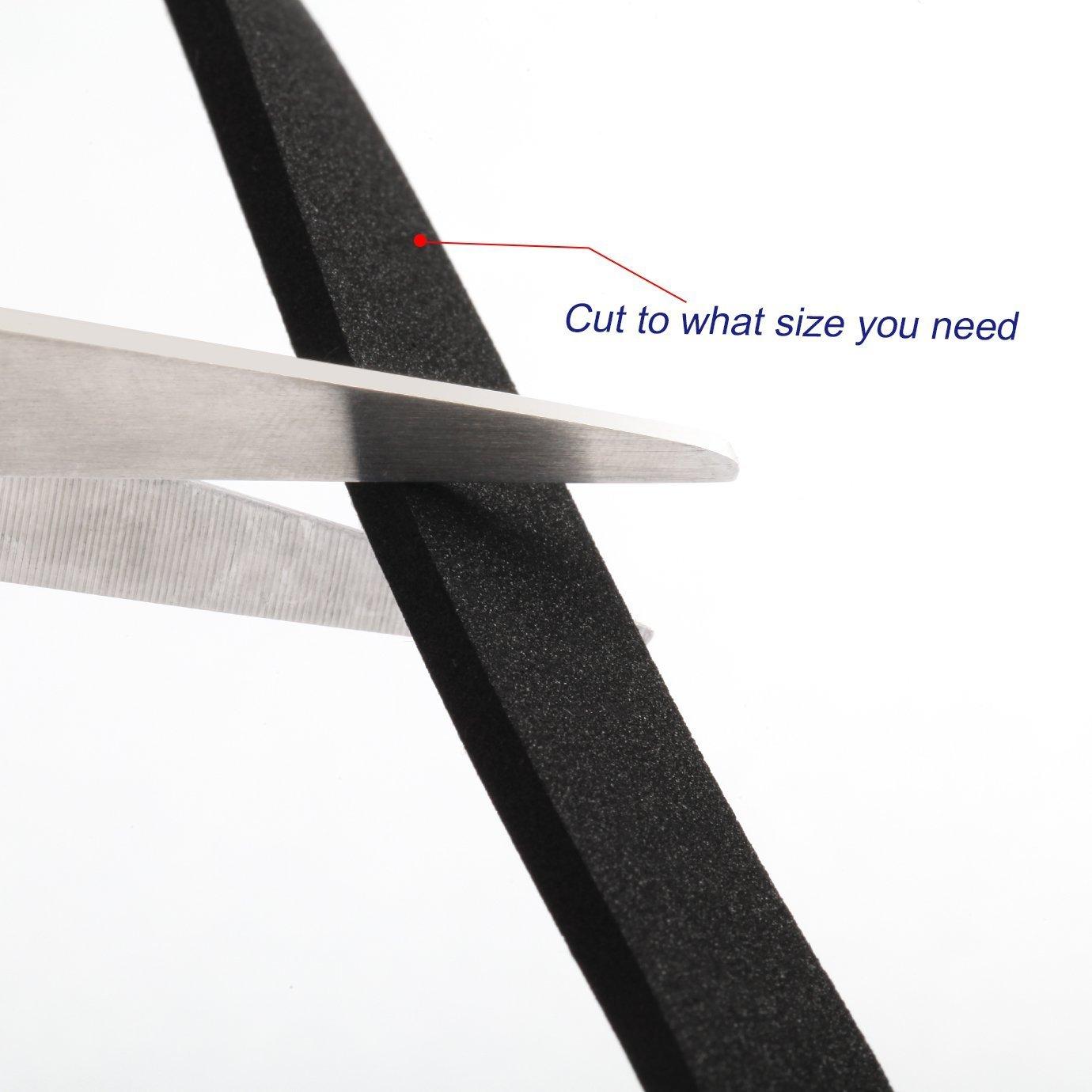 XCSSKG - Tira de Sellado de Espuma de Alta Densidad autoadhesiva para la Intemperie (1,5 cm de Ancho x 3 mm de Grosor x 5 m de Largo): Amazon.es: Hogar