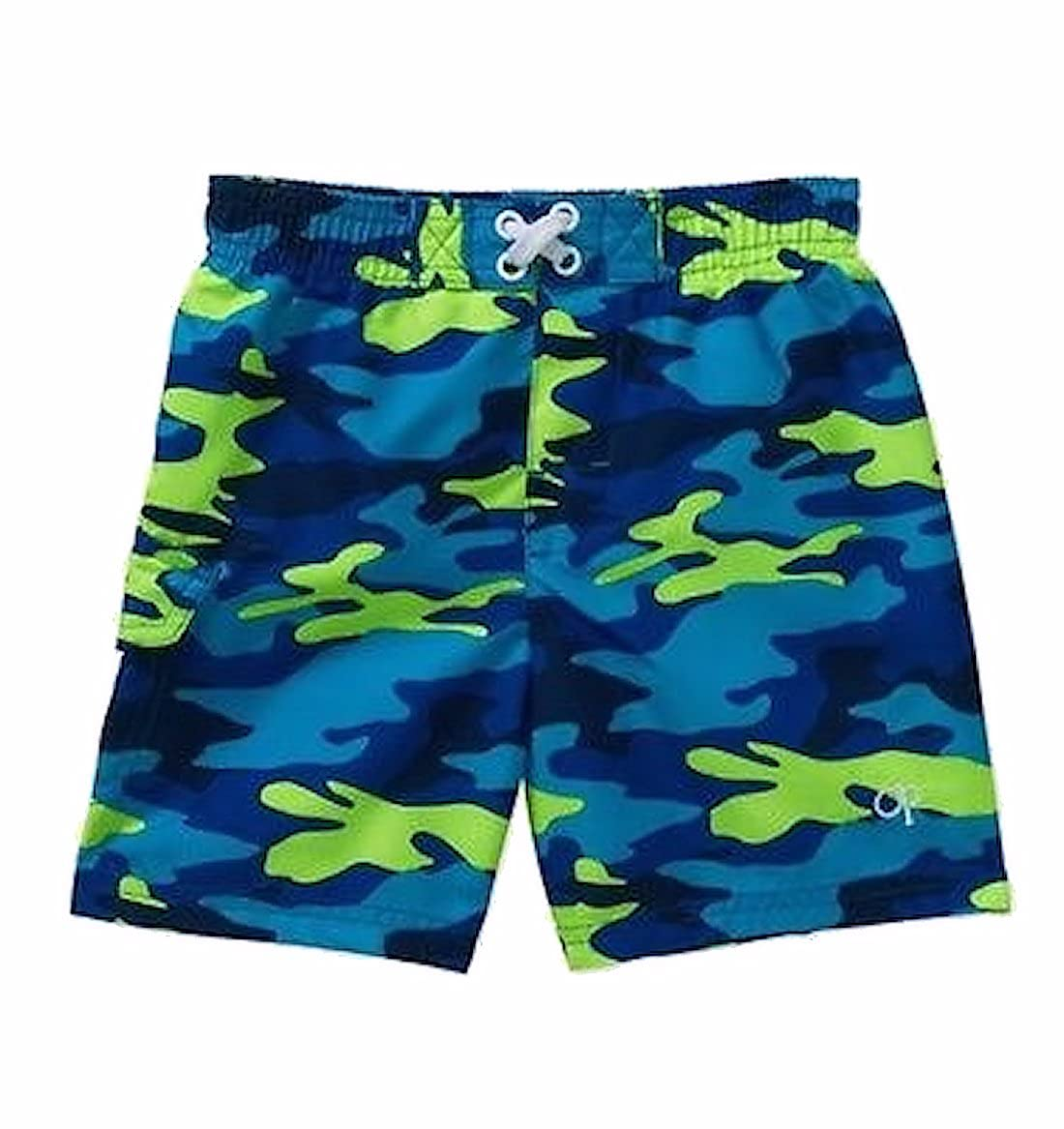 3c9526bcfa Amazon.com: OP Baby Boy Printed Swim Trunks Blue and Green Camo Camouflage  (3-6 Months): Clothing