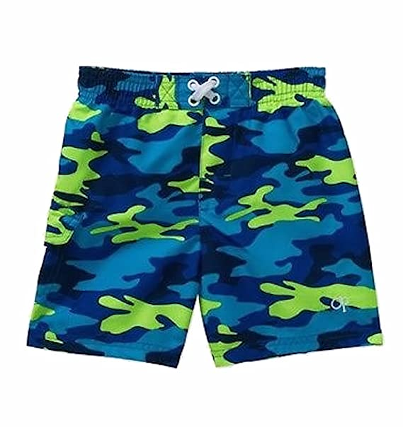 99f6c3c4c2 OP Baby Boy Printed Swim Trunks Blue and Green Camo Camouflage (3-6 Months
