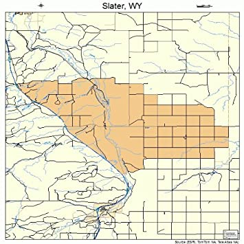Amazon.com: Large Street & Road Map of Slater, Wyoming WY - Printed ...