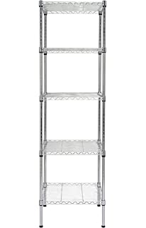 finnhomy 5 shelves adjustable steel wire shelving rack for smart storage in small space or room