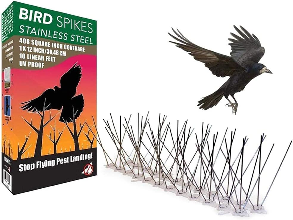 anti p/ájaros antip/ájaros para deshacerse de palomas espinas de acero inoxidable asustar p/ájaros 5 p/úas de acero inoxidable repelente de p/ájaros control de plagas