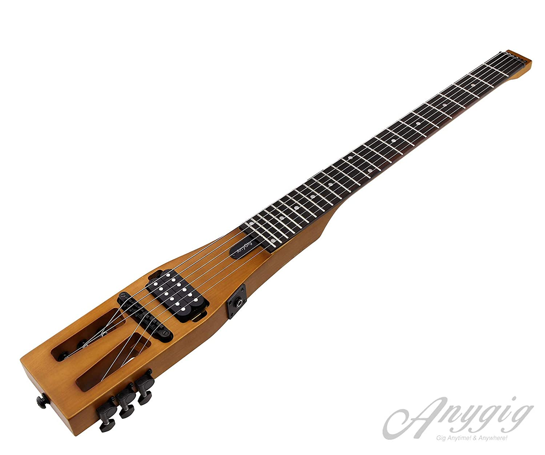 OTOTEC Enhanced edición Anygig Guitarra eléctrico 010 ~ 046 Guitarras de Viaje Jack de Salida 1/4 PO Cable de Audio marrón Mate con Bolsa de Transporte: ...