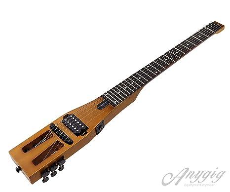 Anygig Age SE - Guitarra eléctrica portátil (madera de palisandro, 2 vías)