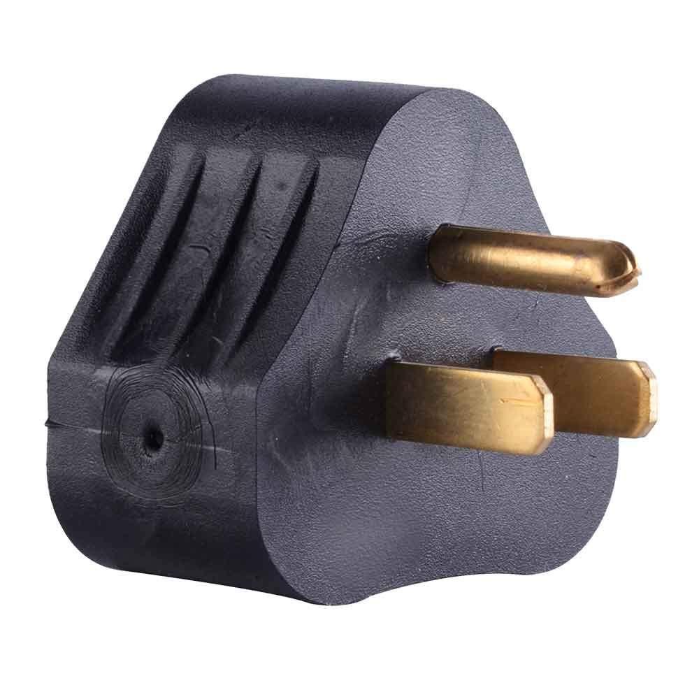 15 Amp Male to 30 Amp Female Triangle Union Electric RVA1515 15 Amp Male NEMA 5-15P to 30 Amp Female NEMA TT-30R Adapter Plug