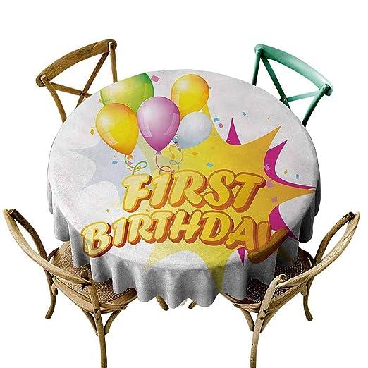 AndyTours - Funda Impermeable para Mesa de Primer cumpleaños ...
