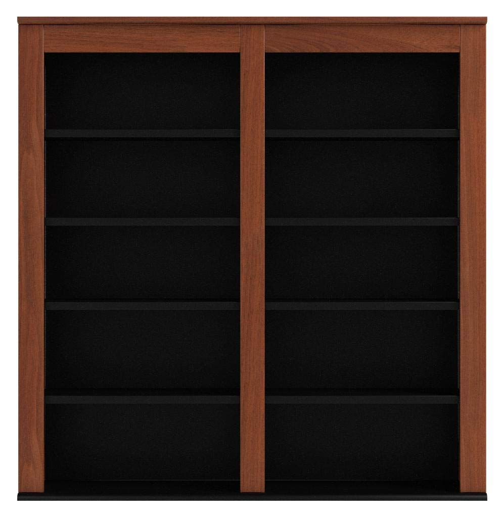 Prepac Double Wall Mounted  Storage Cabinet, Cherry and Black by Prepac