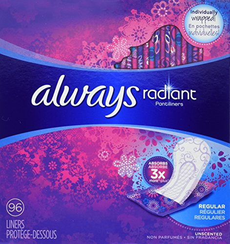Always Radiant - Regular Panty Liners - 96 Count