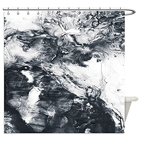 Vanfan Shower Curtains abstract hand painted black and white background acrylic painting on canvas wallpaper texture 548641843 For - Madison Florals Wallpaper