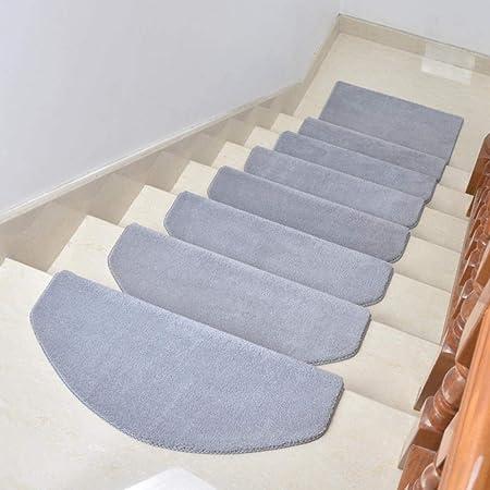 YINGXINXWM - Alfombra para Escalera, de Madera, Antideslizante, Gruesa, de algodón Puro, Color Rojo y Blanco, Juego de 15 Piezas, Plateado, 65 * 24+3 (cm): Amazon.es: Hogar