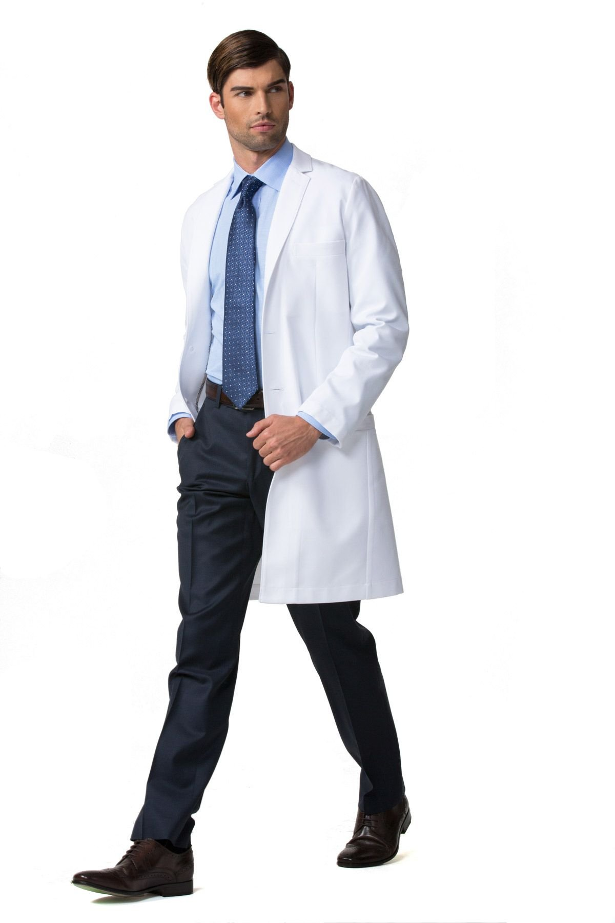 Men's E. Wilson Slim Fit M3 White Lab Coat- Professional Fit With Performance Fabric - Size 36 by Medelita (Image #4)